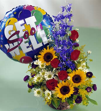 Get Well Flower Arrangement