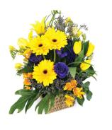 Flower Basket Thank You Gift