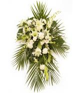 All White Sympathy Flower Spray