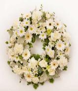 All White Funeral Wreath