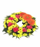 Seasonal Mixed Funeral Wreath