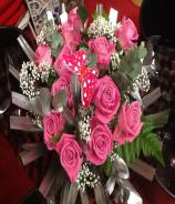 Love is in the Air - Pink Roses Bouquet